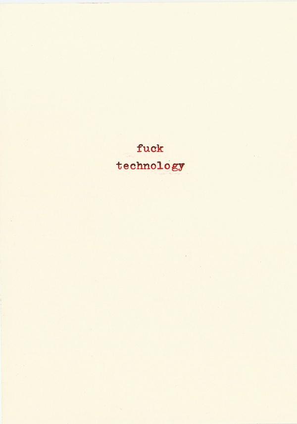 http://bgrand.tumblr.com/post/24304022838 #fuck #type #lofi #typewriter #technology #typography