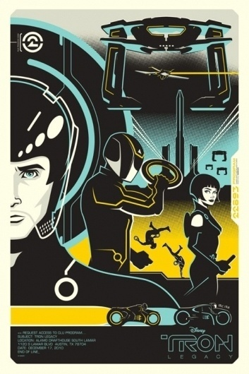 OMG Posters! » Archive » Tron and Tron: Legacy Posters by Eric Tan (Onsale Info) #movies #posters