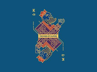 King of cloves card illustration