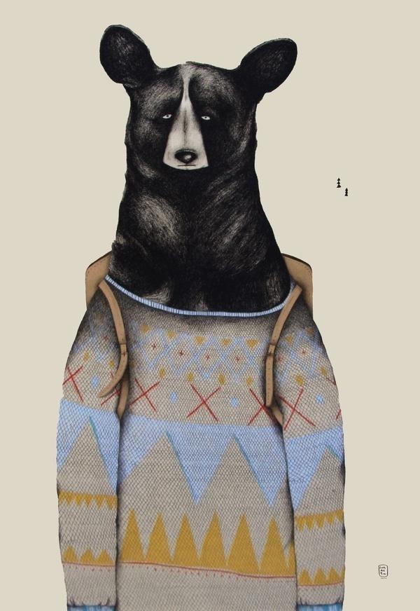 Bears by Sara Landeta #bear #illustration #drawing
