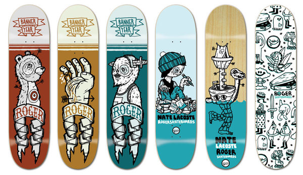 Roger decks by Michael Sieben #deck #collection #illustration #skate