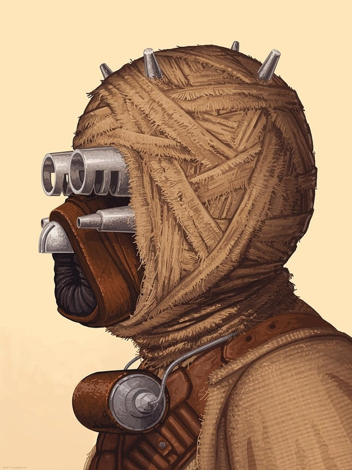TUSKEN RAIDER & SNOWTROOPER Portraits by Mike Mitchell! – Mondo