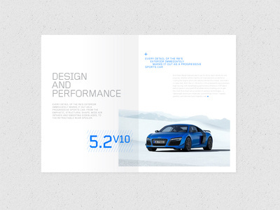 Audi R8 Brochure // D&P spread