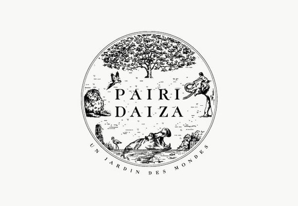 Pairi Daiza #logo #illustration #monotone #animals