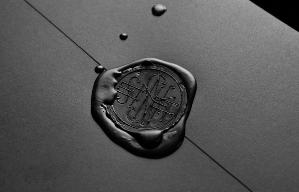 Logo as a wax seal detail designed by Anagrama for Latin American horror film production company Nemesis Films