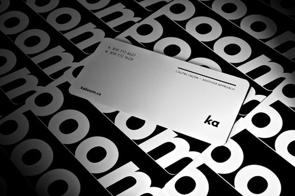 layout // Kaboom Communication Design Business Card #card #business