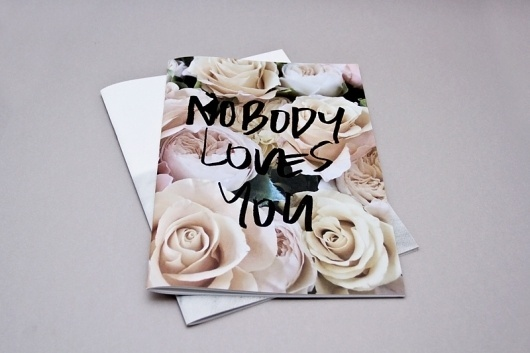Nobody | The Drop #magazine #catalog #loves #you #print #body #fashion #no