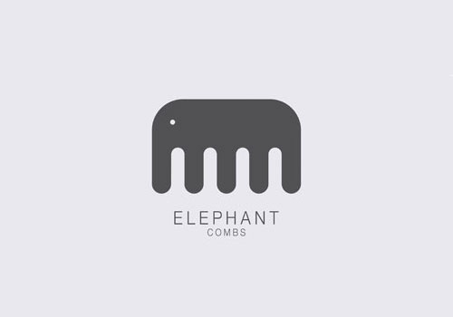 Elephant Combs | Logo Design Love #logo