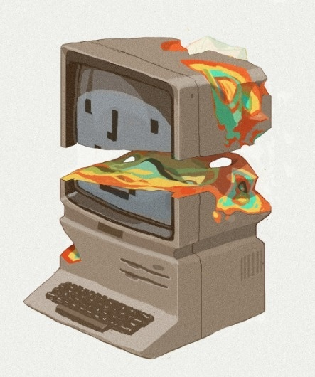 Stay Hungry Stay Foolish by *contraomnes on deviantART #computer #color #destroy #illustration #mac