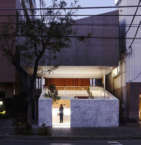 yuko nagayama stacks the katsutadai residence over a pastry shop #shop #pastry