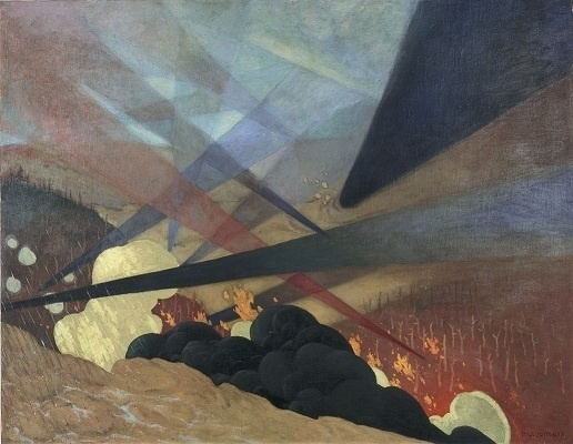 1917 | Amateur d'art #smoke #lights #fire #painting #surreal #fields #rays