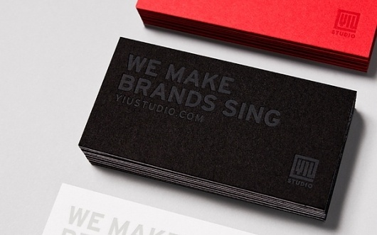 Yiu Studio Business Cards on the Behance Network #laminated #yiu #business #branding #3 #studio #cards #ply