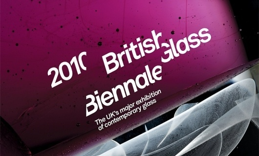 Mytton Williams Brand & Design - British Glass Biennale #print #branding #typography