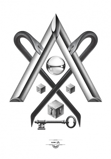 All sizes | Trabalho Sujo | Flickr - Photo Sharing! #illustration #triangle #key #lock #blocks #crowbar