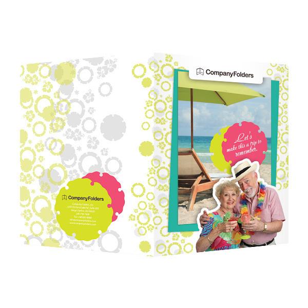 Tropical Beach Tourism Pocket Folder Template (Front and Back View) #template #tourism #beach #tropical