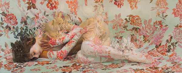 The Lush, Floral Paintings of Sergio Lopez | Hi Fructose Magazine