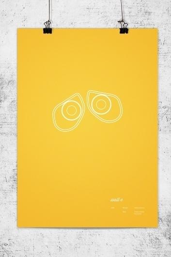 Pixar Minimal Posters on the Behance Network #walle #lee #wonchan #minimalism #rmit #melbourne #tribute #minimal #poster #minimalist #pixar
