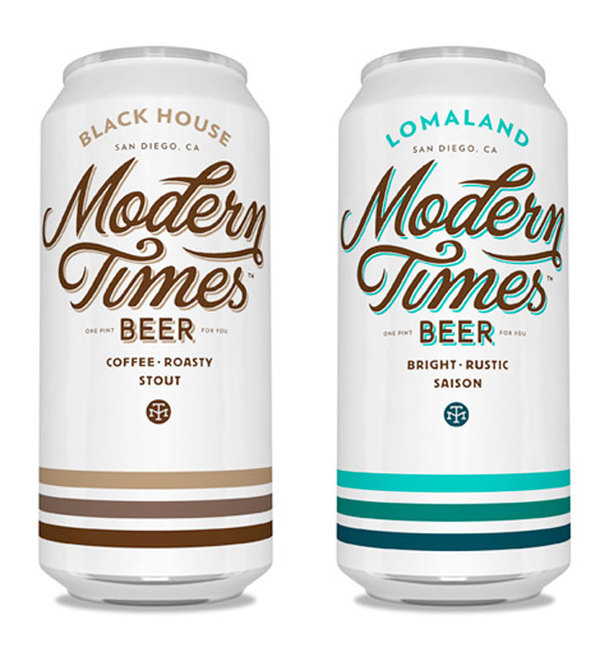 Modern Times Beer Packaging #typography #beer #clean #alcohol #beverage