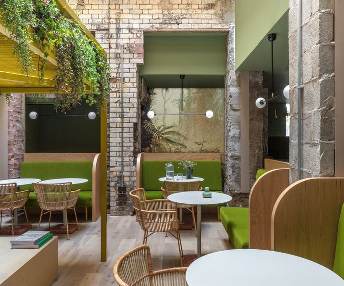 Lounge and Co-Working Space in Manchester by Grzywinski+Pons - InteriorZine