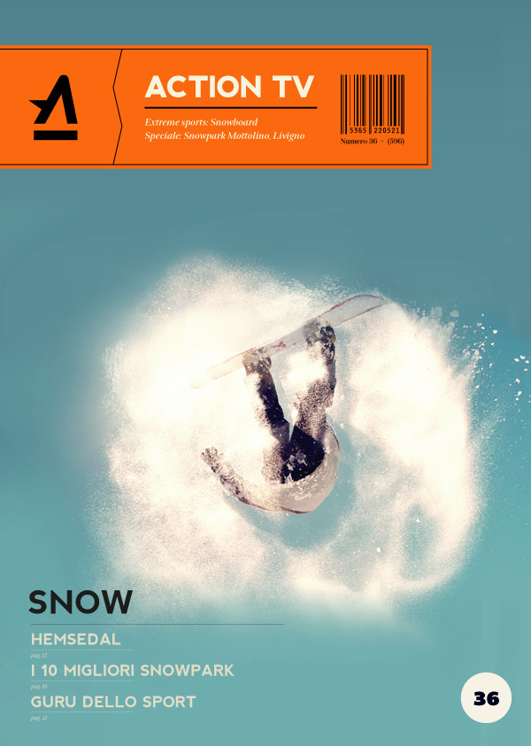 Action Tv on Behance #television #print #design #graphic #cover #sport #tv #magazine #action