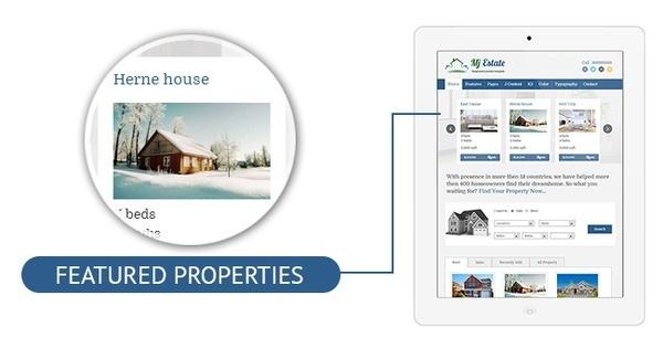 Mj Estate - Real Estate Joomla Template #property #responsive #portfolio #design #listing #real #joomla #25 #template #blue #estate #web #green
