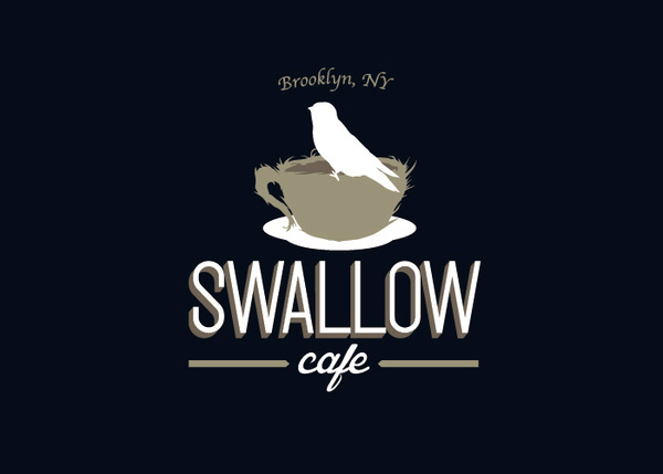 Swallow Cafe on the Behance Network #type #paint #hand #craft