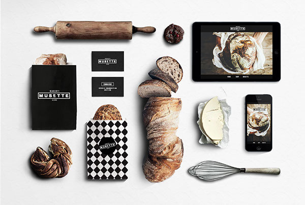 MUSETTE bakery on Branding Served #branding