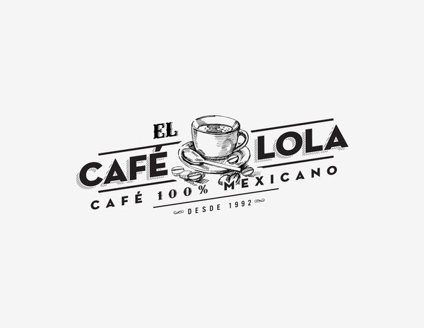 Café Lola on the Behance Network #cafe #mexico