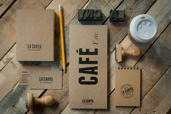 LA CANYA on Branding Served #print #design #graphic #identity #typography