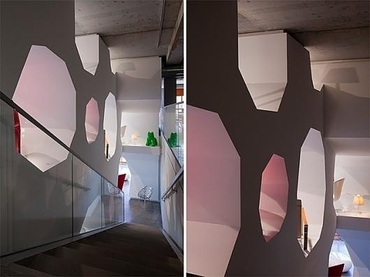 Orange Cube, France by Jakob + Macfarlane | blueverticalstudio #staircase #honeycomb #architecture #modern