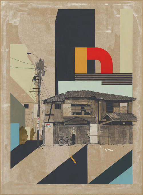 Evan Hecox #mixed #media #design #painting