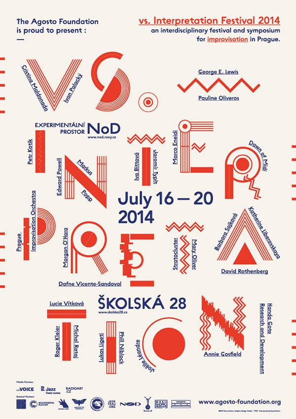 vs. Interpretation / Festival of Improvisation 2014 on Behance #inspiration #poster #typography