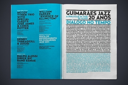 JAZZ 2011 JOURNAL on the Behance Network #editorial