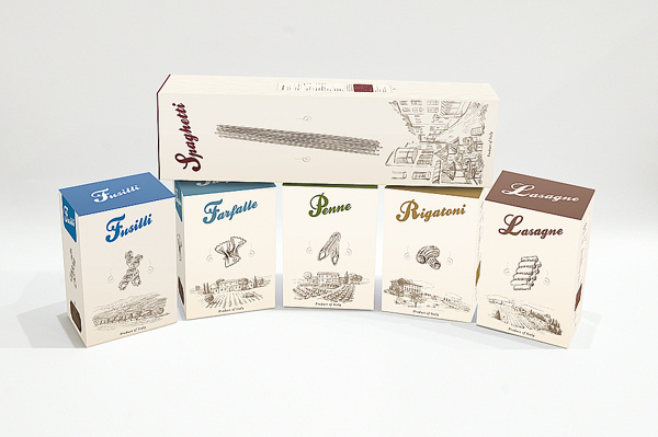 Italian pasta package design #packaging #maikel #pasta #design #kulesza #michakulesza #box #food #set #italian #kelmai #micha #michalkulesza #package