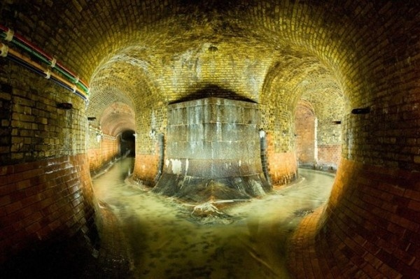 Fleet River, London, England #underground #city #tunnel #photography #beautiful #dark #sewer