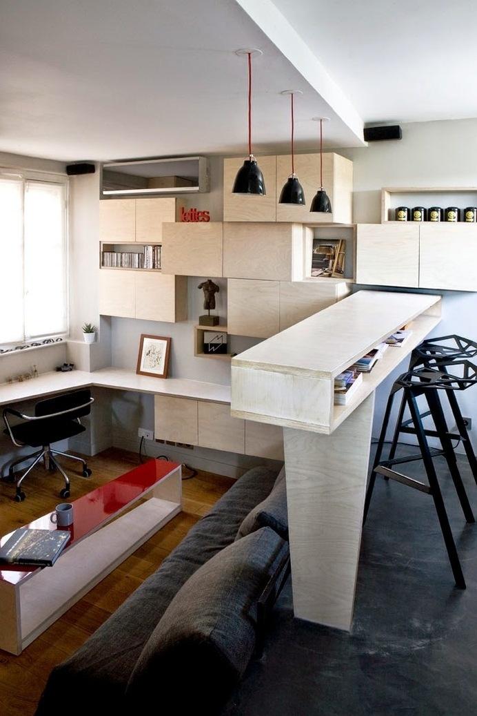16 m² Tiny Apartment in Paris #interior #apartment #simple #minimal