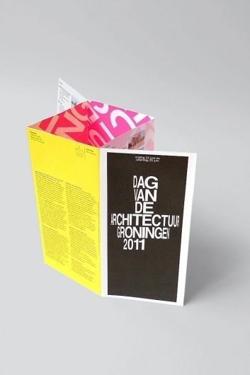 Day of Architecture Groningen | Identity Designed #design #graphic #structure #dutch #pamphlet