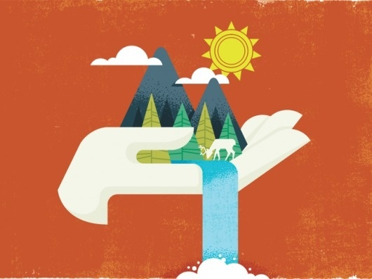 Dribbble - hand670.png by brian hurst #illustration #waterfall #hand #texture