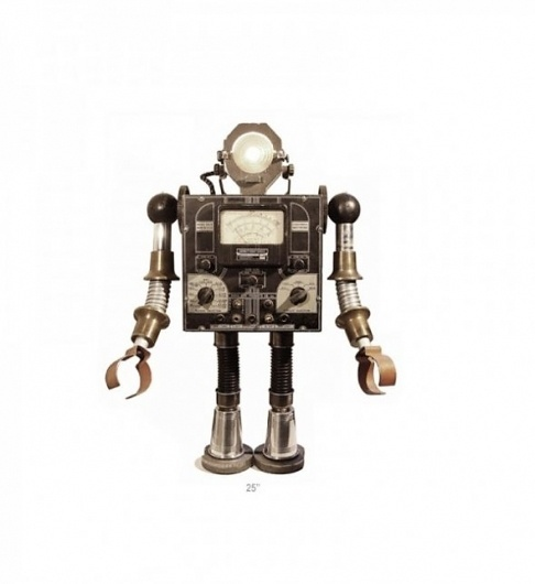 Robots - Wall to Watch #model #sculpture #robot #recycled #vintage #fan