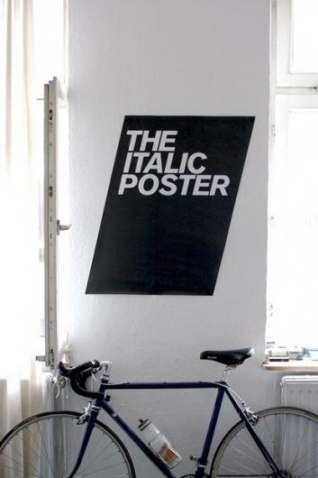 tumblr_lwe5pv5G661r61h6co1_500.jpg (JPEG Imagen, 415x622 pixels) #italic #bold #black #clean #poster #bike #type