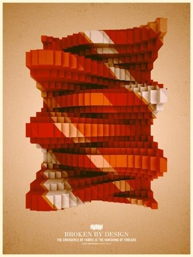 FYI-Monday-Inspiration-Alex-Varanese-Broken-By-Design-575x766.png (PNG Image, 575x766 pixels) #retro #poster