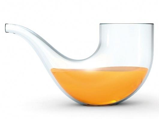 sebastian bergne: pipe glass for pigr' #glass #beer #transparent #pipe
