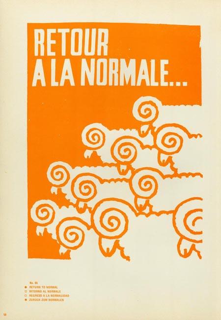 Return/Normal #paris #print #protest
