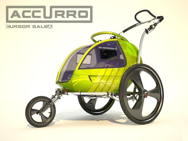 Accurro Baby Stroller #tech #amazing #modern #innovation #design #futuristic #gadget #ideas #craft #illustration #industrial #concept #art #cool