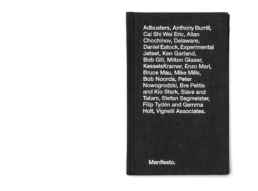 Book   Manifesto #manifesto #print #book