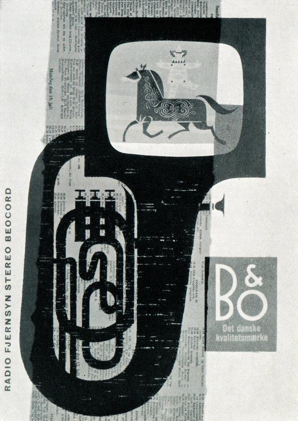 newhousebooks:Ad for television sets. Werner Neertoft, Denmark, 1963 #illustration #design #magazine