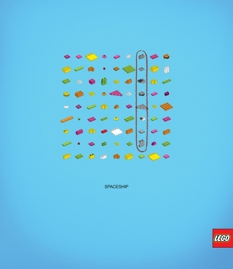 Lego: Words puzzle, Spaceship | Ads of the World™ #advert #concept #lego