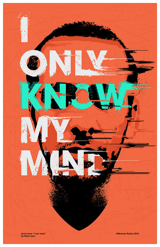 My Mind 02 | Flickr Photo Sharing! #type #poster #screenprint #halftone