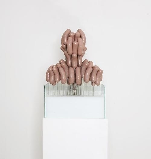 The Supermarket #sculpture #head #hotdog