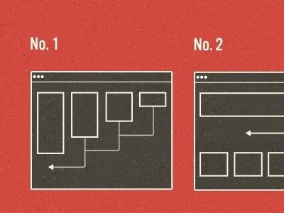 Dribbble - No No by Trent Walton #diagram